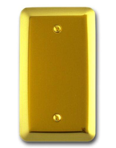 Amerelle Devon Blank Steel Wallplate in Bright Brass - llightsdaddy - AMERELLE - Lamp Post Mounts