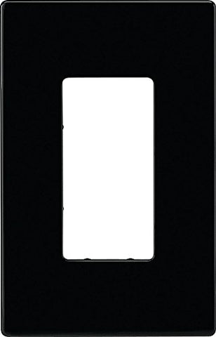 Eaton PJS26BK Decorator Screwless Wallplate, 1-Gang, Black