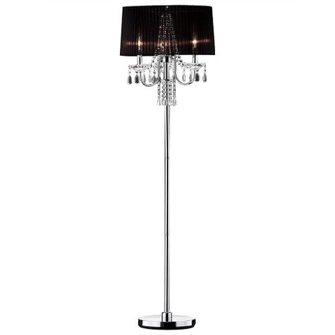 "Ok lighting OK-5111FOK-5111f Crystal Drop Floor Lamp, 59.75"" x 18"" x 18""  OK Lighting Lamp Shades llightsdaddy.myshopify.com lightsdaddy"