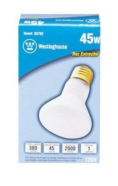 Westinghouse Lighting 0370200, 45 Watt, 120 Volt Frosted Incand R20 Light Bulb, 2000 Hour 380 Lumen - llightsdaddy - Westinghouse Lighting - Wall Plates