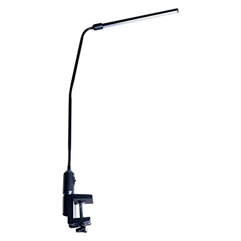 "Lavish Home Contemporary Clamp LED Desk Lamp, Black (41"")"
