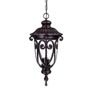 Acclaim 2126MM Naples Collection 3-Light Outdoor Light Fixture Hanging Lantern, Marbleized Mahogany
