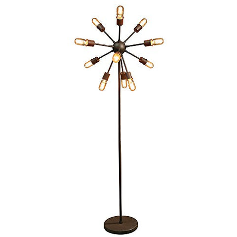 Warehouse of Tiffany LD5380 Marguirite 12-Light Antique Bronze 16-inch Edison Floor Lamp with Bulbs - llightsdaddy - Warehouse of Tiffany - Lamp Shades