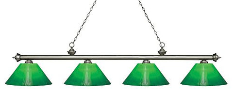 4 Light Island/Billiard Light 200-4AS-SBRZ - llightsdaddy - Z-Lite - Billiard & Pool Table Lights