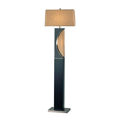 Nova Lighting Half Moon Floor Lamp, Dark Brown/Silver/Etruscan Gold - llightsdaddy - NOVA of California - Lamp Shades