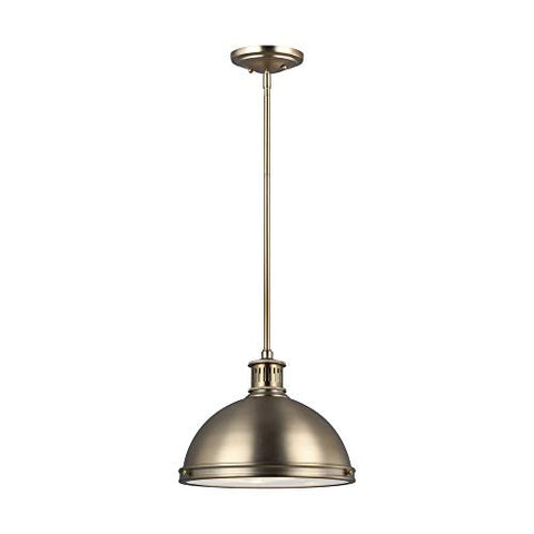 Sea Gull Lighting 65086-848 Pratt Street  Metal Two-Light Pendant Hanging Modern Light Fixture, Satin Bronze Finish
