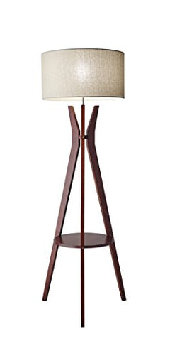 "Adesso 3471-15 Bedford 59.5"" Floor Lamp, Smart Outlet Compatible - llightsdaddy - Adesso - Lamp Shades"