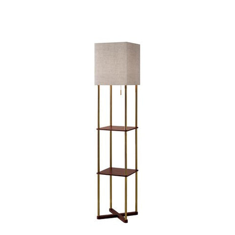 Adesso 3183-21 Harrison Shelf Floor Lamp - llightsdaddy - Adesso - Lamp Shades