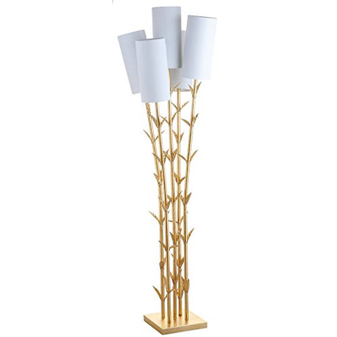 "Jonathan Y JYL2021A Floor Lamp, 26.5"" x 65.5"" x 26.5"", Gold with White Shade - llightsdaddy - JONATHAN Y - Lamp Shades"