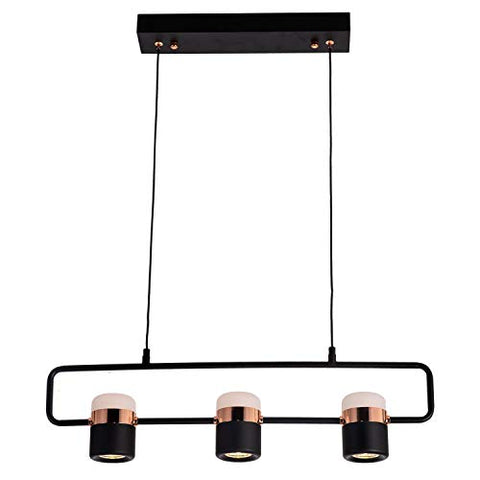 Ganeed Island Pendant Light, Modern Chandelier Kitchen Hanging Lamps,Metal Glass Track Lighting Fixtures, 3-Light Ceiling Light for Basement Dining Room, Coffee Shop, Bar Counter - llightsdaddy - Ganeed - Island Lights