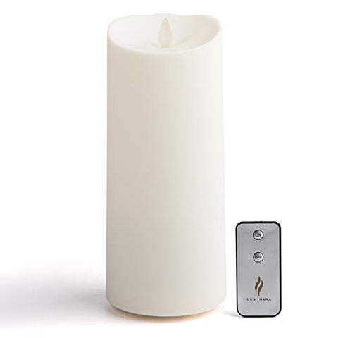 "Luminara 9"" Tall Outdoor Flameless (3.75"" Diameter) Candle (Soft-Touch) with New Remote Control - llightsdaddy - Luminara - Flameless Candles"