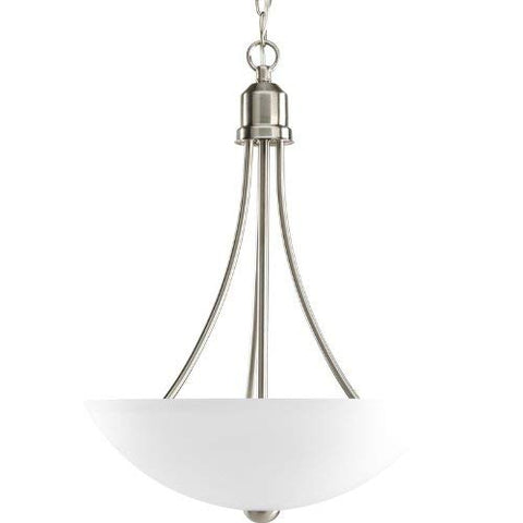 Progress Lighting P3914-09EBWB Transitional Two Light Foyer Pendant from Gather Collection in Pwt, Nckl, B/S, Slvr. Finish, Brushed Nickel