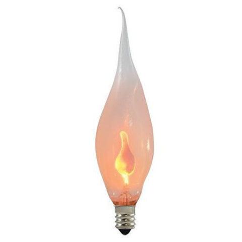 Bulbrite SF/F3CTC Silicone Dipped 3W Chandelier Bulb, Candelabra Base - llightsdaddy - Bulbrite - LED Bulb