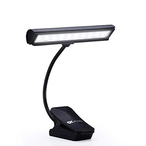 Proxelle Dazzle 10 LED Clip on Book Light, LED Rading Lights for Books, Rechargeable and Flexible Travel Light, Portable Stand Lamp for Reading at Night - llightsdaddy - Proxelle - Book Lights