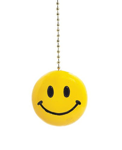 Yellow Happy Smiley Face Fan Pull Decorative Light Chain by Clementine Design - llightsdaddy - Clementine Designs - Pull Chains