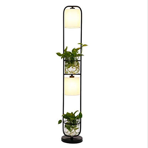 Modern Decoration Plant Flower Floor Lamp Fabric Lampshade Glass Study Stand Floor Light AC110V-220V - llightsdaddy - YL-Light - Lamp Shades