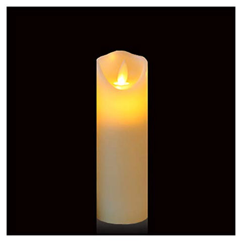 "Friengood Flameless Candles Battery Operated LED Pillar Candle Real Wax Flickering Unscented Candles, Height 6"", Ivory, Single Pack - llightsdaddy - Friengood - Flameless Candles"