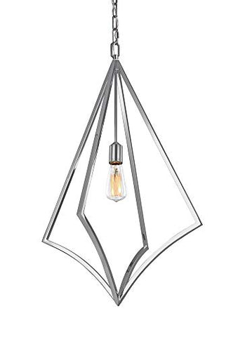 "Murray Feiss Lighting P1451CH Nico - 19"" One Light Pendant, Chrome Finish"