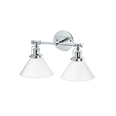Gatco 1613 Cafe Double Sconce, Chrome