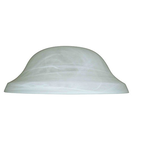 Litex 4-in H 11.13-in W Alabaster Glass Globe Ceiling Fan Light Shade - llightsdaddy - Litex - Fixture Replacement Globes & Shades