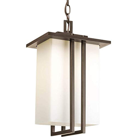 Progress Lighting P5590-20 Transitional One Light Hanging Lantern from Dibs Collection Dark Finish, 9.75 inches, Antique Bronze