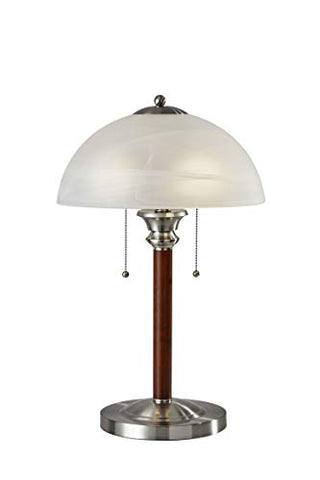"Adesso 4050-15 Lexington 22.5"" Table Lamp - Lighting Fixture with Walnut Wood Body, Smart Switch Compatible Lamp. Home Improvement Equipment"