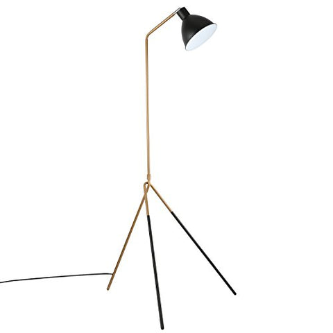 Light Society Mastise Grasshopper Floor Lamp, Matte Black and Gold Finish, Mid Century Modern Industrial Style (LS-F232-BKGD) - llightsdaddy - Light Society - Lamp Shades
