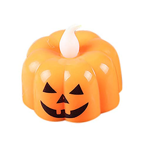 BONJIU Halloween Pumpkin Light Flickering LED Light Flameless Candle Special Party Home for Garden Patio Holiday Decorations, Decor Halloween Christmas Party - llightsdaddy - BONJIU - Flameless Candles