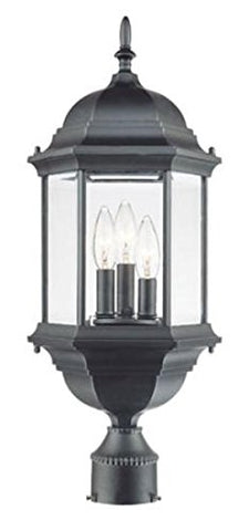 Acclaim 5187BK Three Light Outdoor Post Mount Matte Black - llightsdaddy - Acclaim - Post Lights