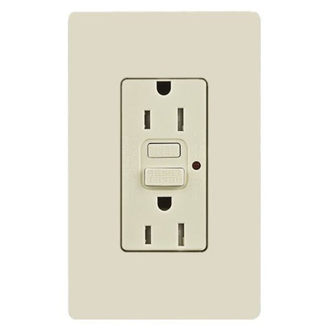 Lutron CAR-15-GFTRH-LA CA 15A GFCI Tamper Resist Lt. Almond Light Almond - llightsdaddy - Lutron - Wall Plates