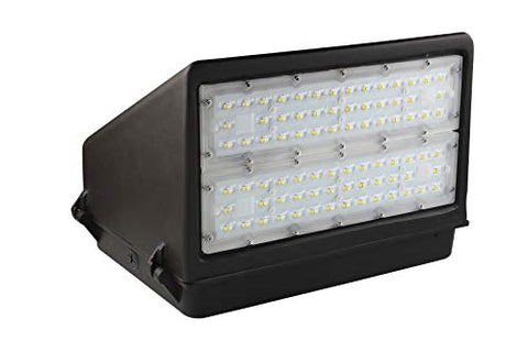 ASD LED Full Cutoff Wall Pack 40W 5000K (Daylight) 4861lm Dimmable, Bronze, UL & DLC Certified
