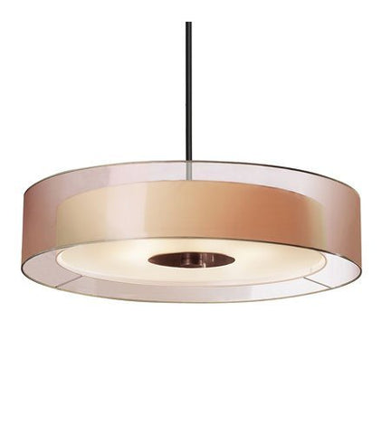 Sonneman 6020.51, Puri Drum Pendant, 6 Light, Black Brass - llightsdaddy - Sonneman - Pendant Lights