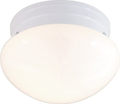 Nuvo Lighting 60/403 Two Light Flush Mount with White Mushroom Glass, White, 10-Inch