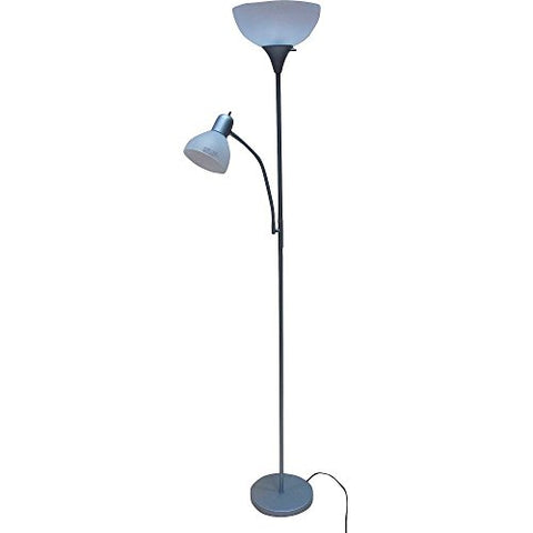 Mainstays 72'' Combo Floor Lamp, Black (Silver) - llightsdaddy - Mainstay - Lamp Shades