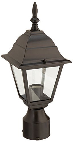 Acclaim 4007BK Builder's Choice Collection 1-Light Post Mount Outdoor Fixture, Matte Black - llightsdaddy - Acclaim - Post Lights