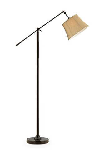 "OK Lighting OK-9148F Taylor Antique Bronze Swing Arm Floor Lamp, 37"" x 12.5"" x 65""  OK Lighting Lamp Shades llightsdaddy.myshopify.com lightsdaddy"
