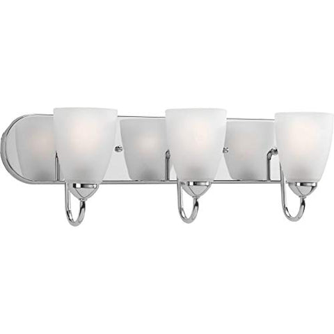 Progress Lighting P2708-15 3-100W MED Bath Bracket, Polished Chrome