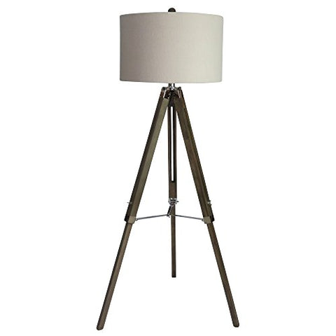 Martin Richard W-2026SIL Floor Lamp, 60, Weathered Grey/Polished Nickel - llightsdaddy - Martin Tools - Lamp Shades