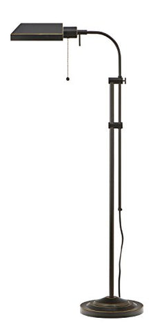 Cal Lighting BO-117FL-DB 100-Watt Adjustable-Height Pharmacy Floor Lamp, Dark Bronze - llightsdaddy - Cal - Seasonal Sales