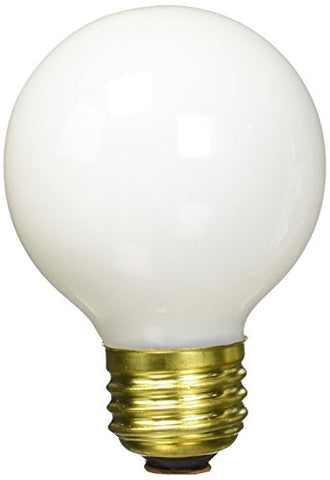 Bulbrite 25G19WH 25W G19 Globe 120V Medium Base Light Bulb, White - llightsdaddy - Bulbrite - Wall Plates