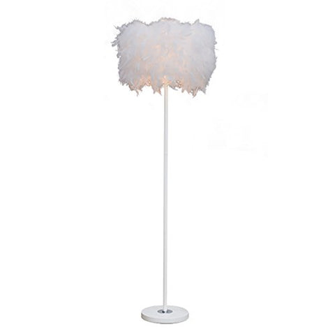 Floor lamp Living room Bedroom Bedside lamp Creative Fashion feather Vertical lamp Floor Uplight Lamp (Size : B) - llightsdaddy - Floor Lamp H - Lamp Shades