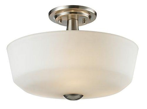 Z-Lite 410SF3 3 Light Semi Flush Mount, Brushed Nickel - llightsdaddy - Z-Lite - Under-Cabinet Lights