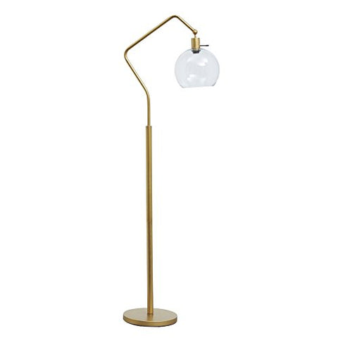 Signature Design by Ashley L207151 Marilee Metal Floor Lamp, Antique Brass Finish - llightsdaddy - Signature Design by Ashley - Lamp Shades