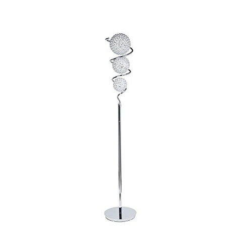 Finesse Decor FN-1143 Crystal Spheres-3 Dome Floor Lamp - llightsdaddy - Finesse Decor - Outdoor Floor Lamps