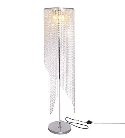 Surpars House Raindrop Crystal Floor Lamp Chrome Finish - llightsdaddy - Surpars House - Lamp Shades