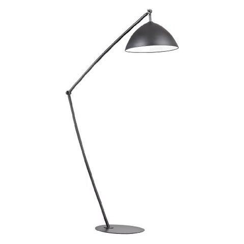 "Dimond Lighting D2461 Oversized Arc Floor Lamp, 17"" x 31"" x 50"", Matte Black - llightsdaddy - Dimond Lighting - Lamps"