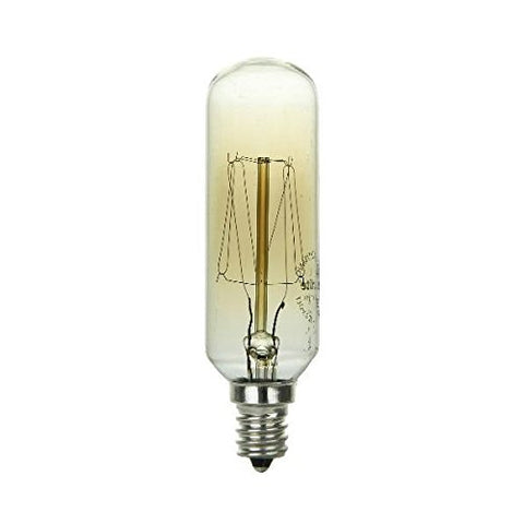 Sunlite 40T8/AQ/T/SM Incandescent 40W Antique Radio Style T8 Bulbs, Candelabra (E12) Base, Smoke Finish - llightsdaddy - Sunlite - LED Bulb