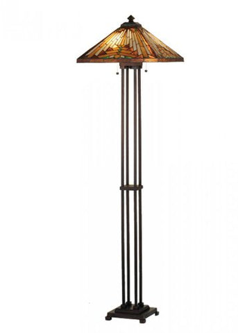 "Meyda Tiffany 66228 Nuevo Mission Floor Lamp, 63"" H - llightsdaddy - Meyda Tiffany - Outdoor Floor Lamps"