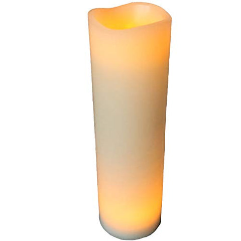 The Creamy White LED Candle, Creamy White Wax, 1-Foot-Tall (12 Inches) Battery Powered (3 AA,) by Whole House Worlds - llightsdaddy - WHW Whole House Worlds - Flameless Candles