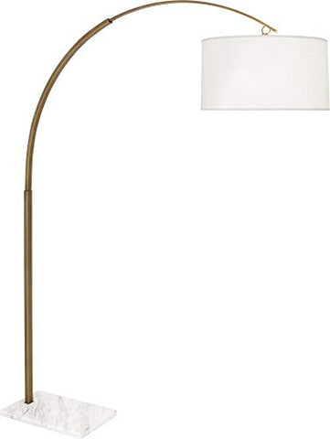Robert Abbey Archer Large Warm Brass Arc Floor Lamp - llightsdaddy - Robert Abbey Lighting - Lamp Shades
